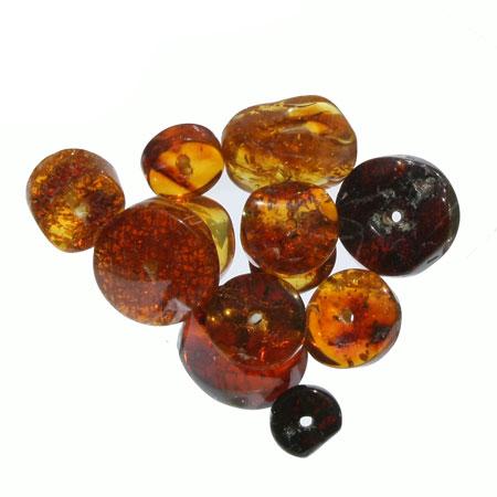 Polished Amber Discs