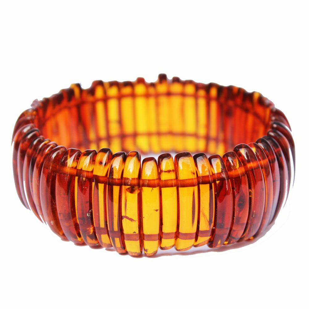 Fancy Honey Amber Bracelet