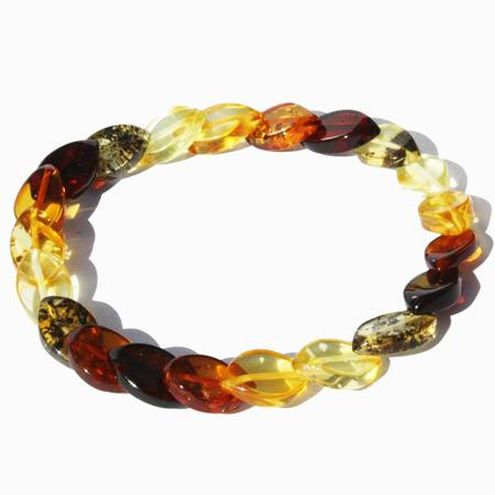 Amber Bracelet Multi Plait