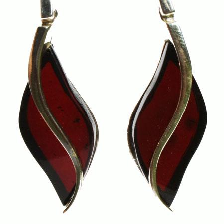 Cherry Amber Earrings 3409
