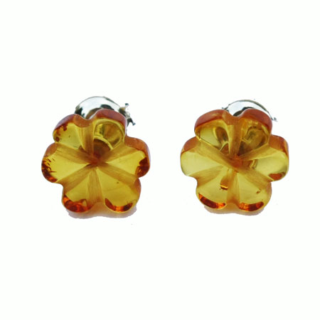 Amber Studs Flowers 5
