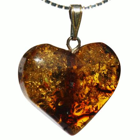 Amber Pendant Heart 430
