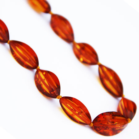 Long Honey Amber Necklace 263