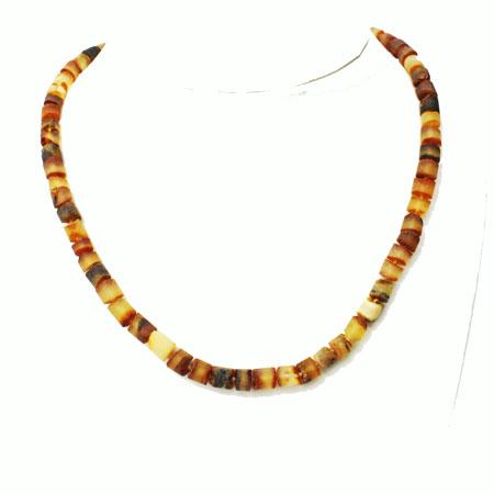 Unpolished Honey Amber Necklace 1