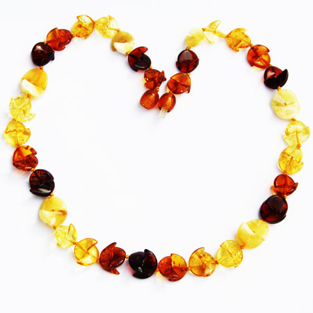 Multi Amber Necklace Moon