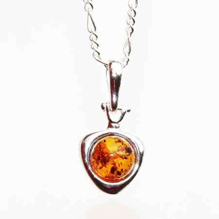 Amber Silver Heart 346