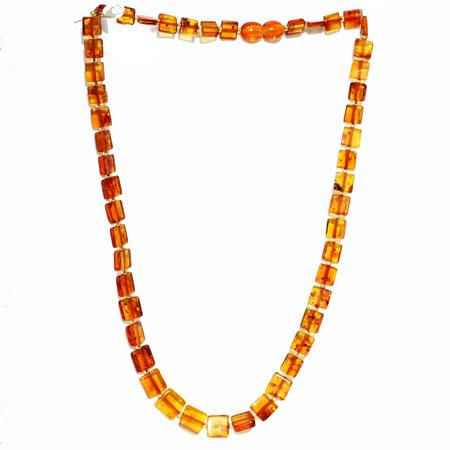 Cognac Amber Necklace – Square