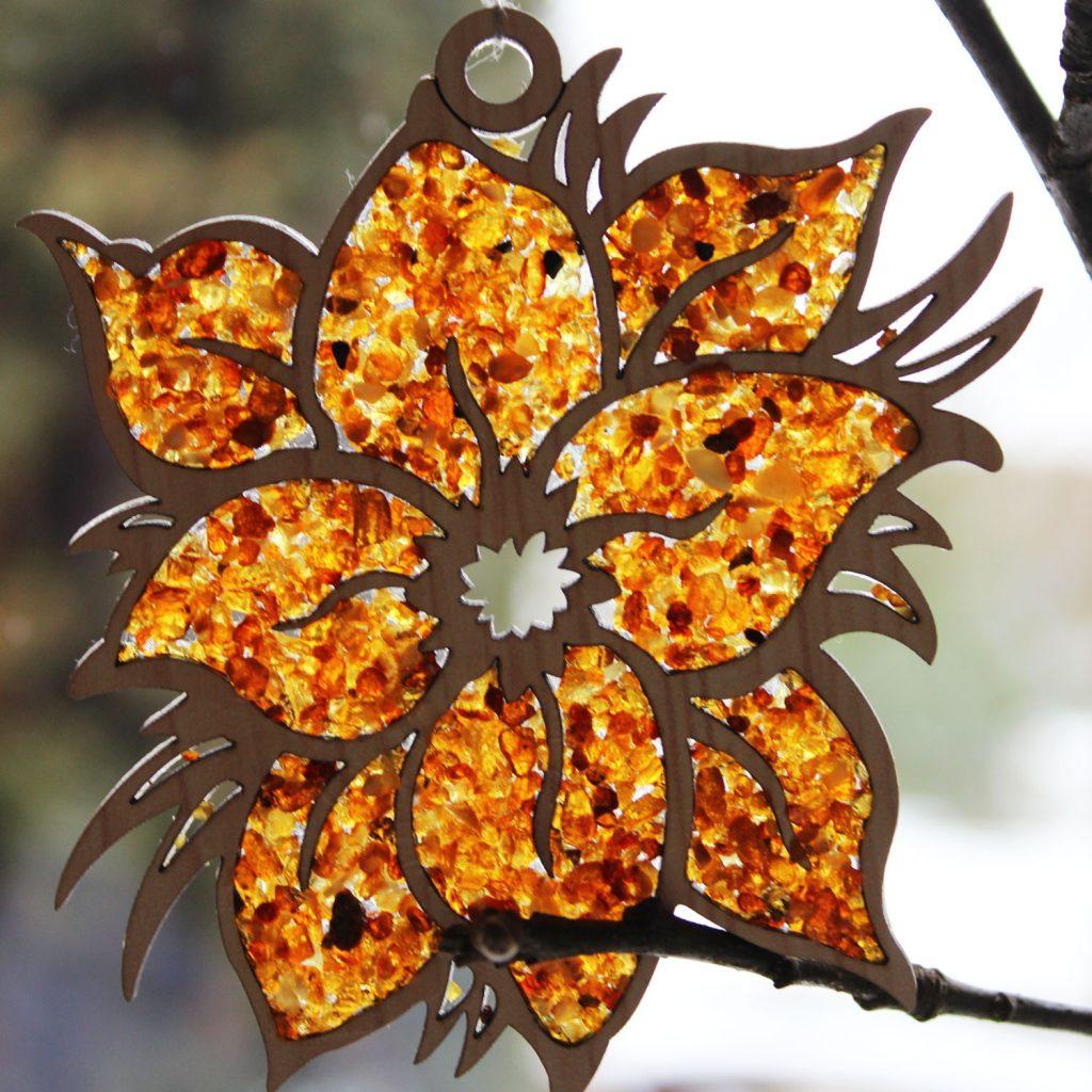 Baltic Amber Flower Mozaic
