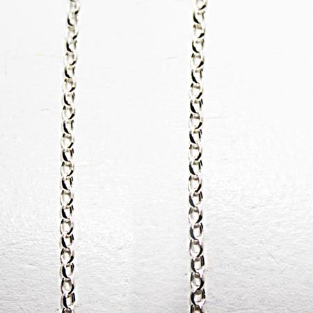 Silver Round Belcher Chain 24 inch.