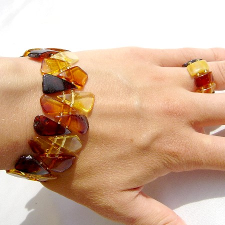 Amber Bracelet Triangles Mix