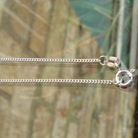 Sterling Silver Curb Chain 16 inch.