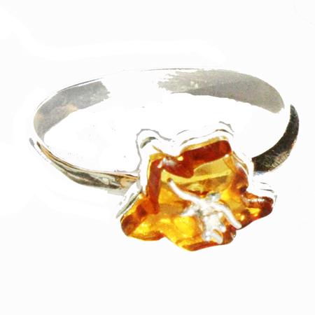 Amber Ring – Flower