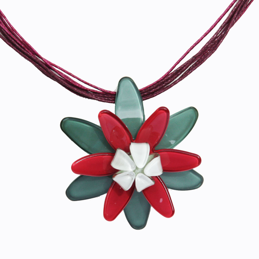 Romance-Water Lily Necklace 1546