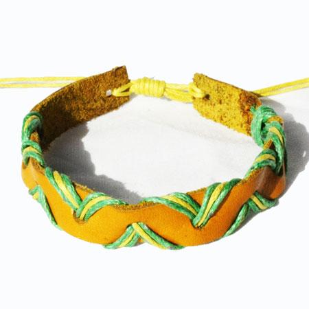 Yellow Zig Zag Bracelet