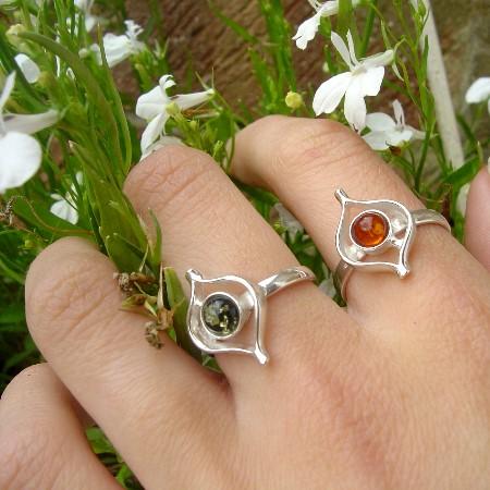 Amber Ring Green 141