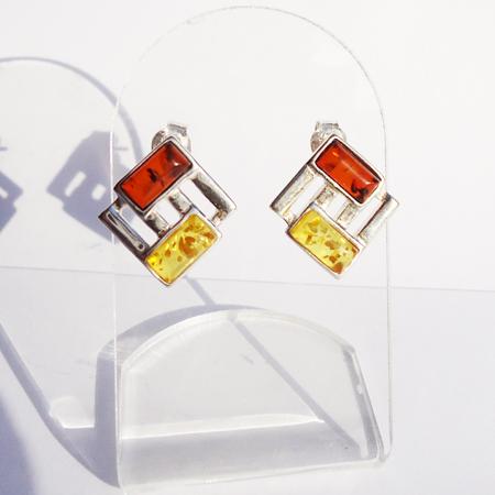 Honey Mix Amber Studs 2089