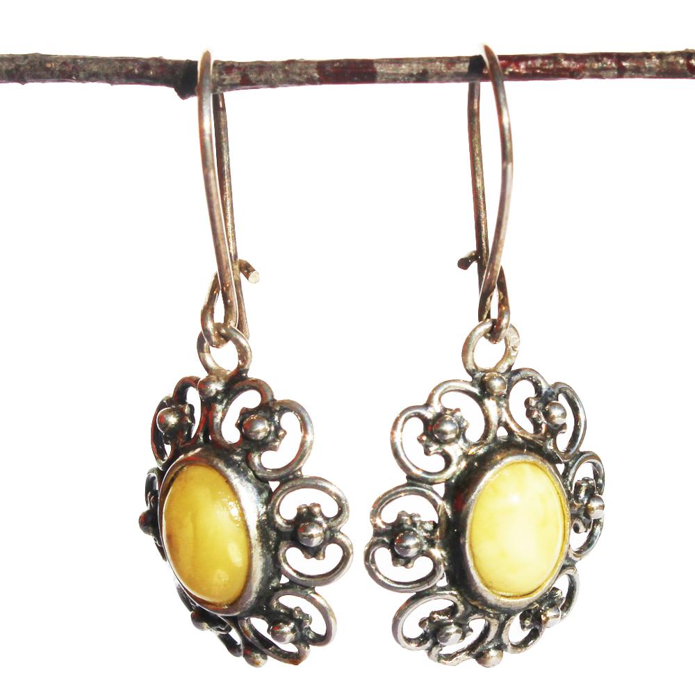 Lemon Amber Earrings 155