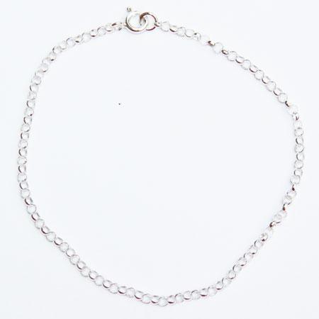Silver Round Belcher Bracelet 7.5 inch.