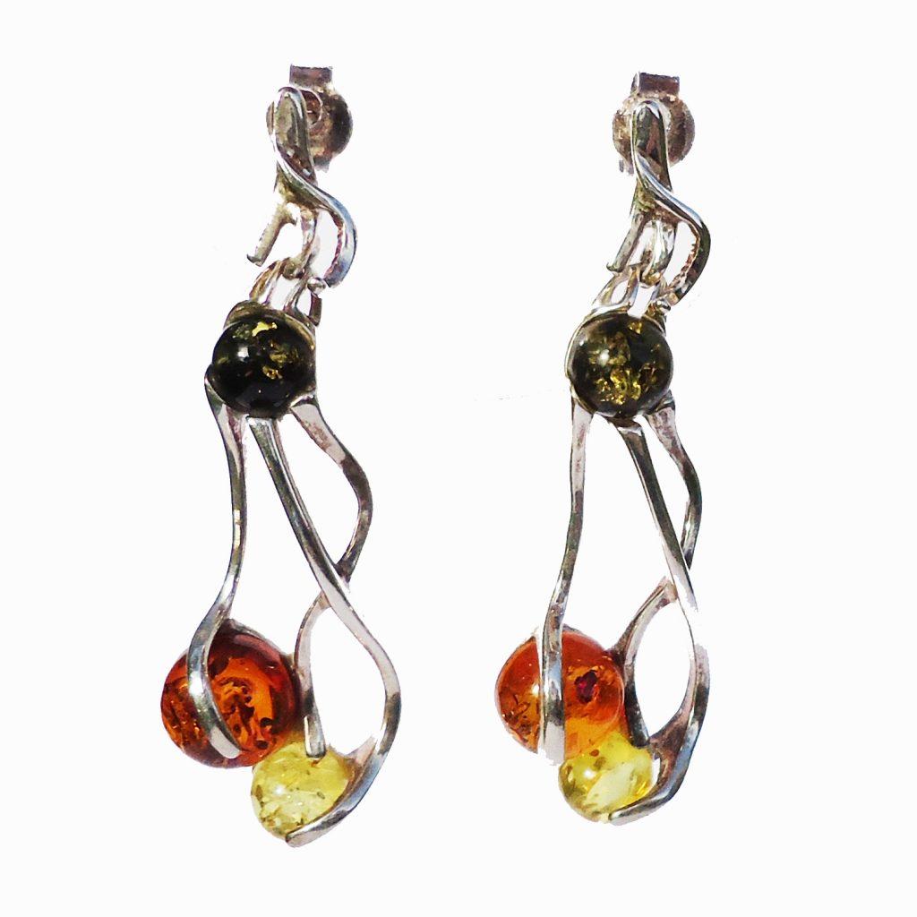 Multi Amber Earrings 7050