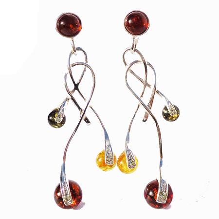Honey Amber Earrings 7093