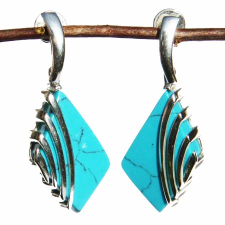 Blue Turquoise Earrings 2209