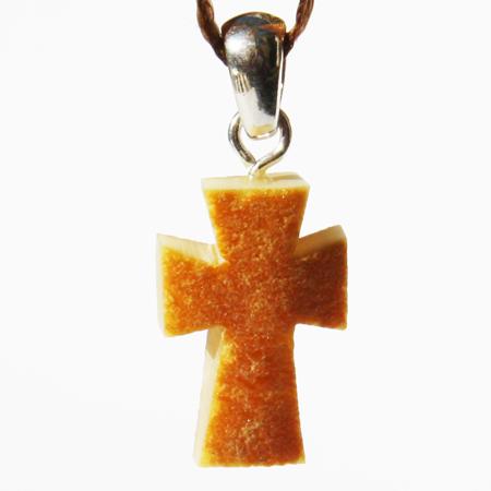 Unpol Amber Pendant Cross